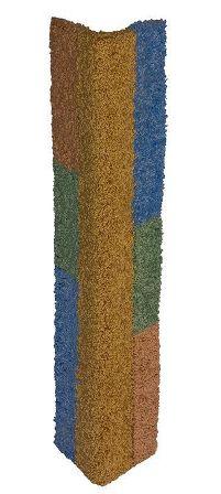 Когтеточка УГЛОВАЯ большая, ковролин цветной, подвесная 74*39,5 см