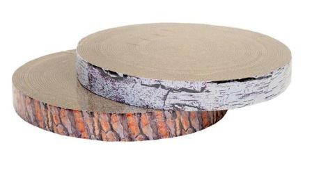 Когтеточка гофрокартонная ЧИП модель ПЕНЬ БЕРЁЗОВЫЙ большой высота 25 мм, диаметр 40,5 см с пропиткой