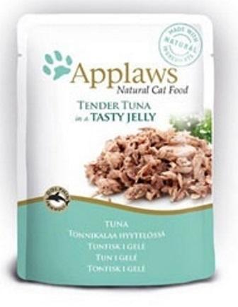 Applaws (Апплаус) - Паучи для Кошек с Кусочками Тунца в желе 70 гр