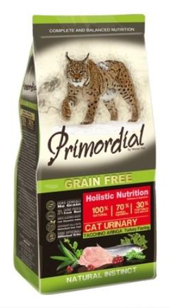 PRIMORDIAL - Беззерновой корм для кошек при МКБ с индейкой и сельдью 400 гр