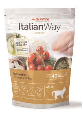 ITALIAN WAY - Безглютеновый корм для кошек с курицей и рисом 1,5 кг