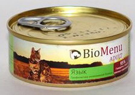 BioMenu Adult (БиоМеню Эдалт)- Консервы для кошек Язык 100 гр