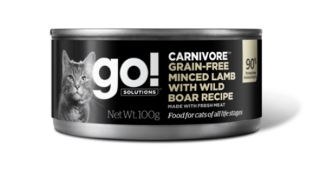 Go!Natural! (Гоу!Нэтурал!) - Консервы беззерновые с рубленым мясом ягненка и дикого кабана для кошек 100 гр