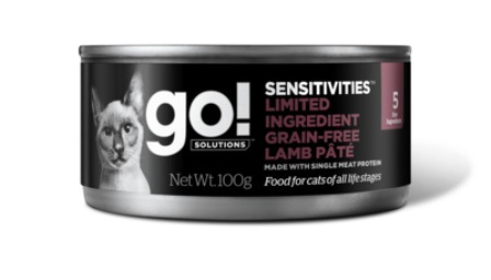 Go!Natural! (Гоу!Нэтурал!) - Консервы беззерновые с ягненком для кошек с чувствительным пищеварением 100 гр