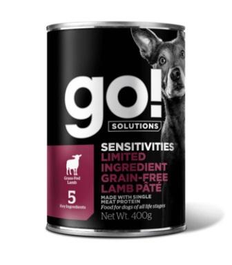 Go!Natural! (Гоу!Нэтурал!) - Консервы беззерновые с ягненком для собак с чувствительным пищеварением 400 гр