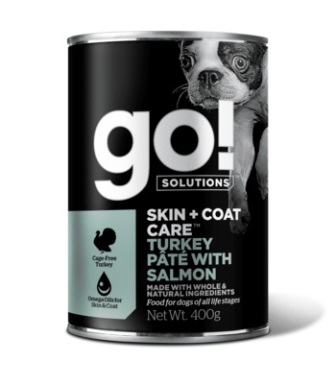 Go!Natural! (Гоу!Нэтурал!) - Консервы с индейкой и лососем для собак 400 гр