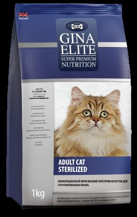 Gina Elite Cat (Джина Элайт Кэт) - Корм для стерилизованных кошек всех пород 3 кг