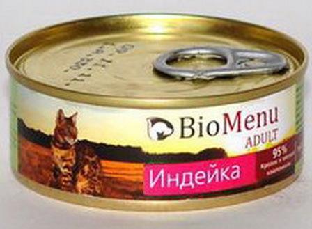 BioMenu Adult (БиоМеню Эдалт) - Консервы для кошек Индейка 100 гр