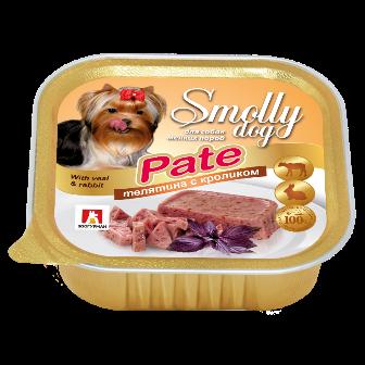 Смолли Дог - Ламистер для собак Телятина с кроликом (патэ) 100 гр