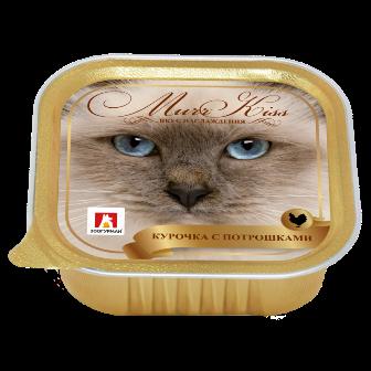 МуррКисс - Консервы для кошек Курочка с потрошками ламистер 100 гр