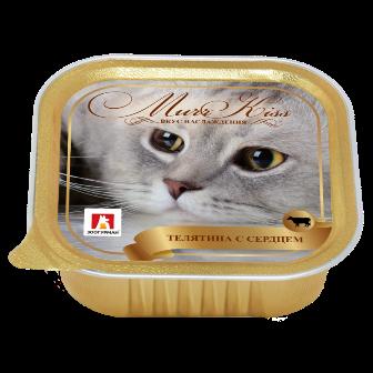 МуррКисс - Консервы для кошек Телятина с сердцем ламистер 100 гр