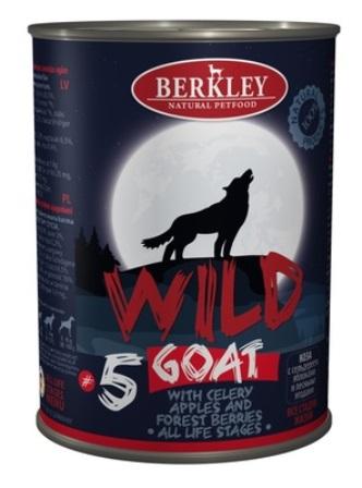 Berkley (Беркли) - Консервы Коза с сельдереем, яблоками и лесными ягодами для собак всех возрастов №5 400 гр