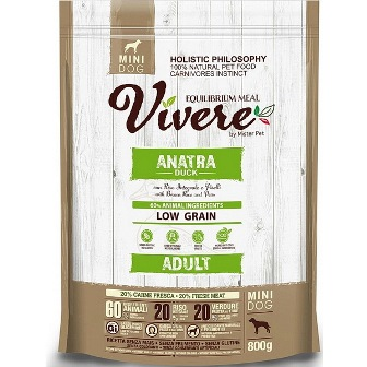 Vivere Mini - Сухой корм для собак мелких пород утка 3 кг