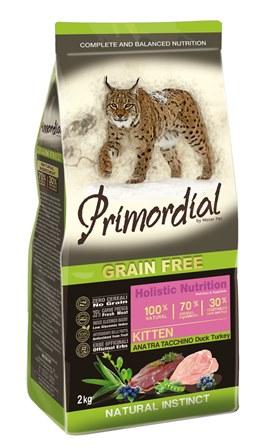 PRIMORDIAL - Беззерновой корм для котят утка и индейка 2 кг