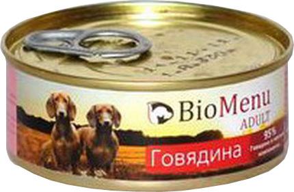 BioMenu Adult (БиоМеню Эдалт) - Консервы для собак Говядина 100 гр