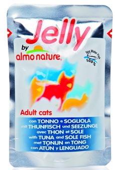 Almo Nature Jelly Cat Tuna&Sole (Алмо Натюр Джели Кэт Туна энд Сол) - Паучи для взрослых кошек тунец и камбала в желе 55 гр
