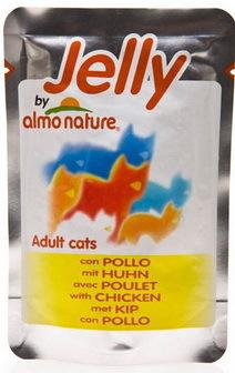 Almo Nature Jelly Cat Chicken (Алмо Натюр Джели Кэт Чикен) - Паучи для взрослых кошек курица в желе 70 гр