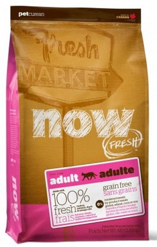 Now!Fresh! Grain Free Adult Cat Recipe 31/18 (Нау!Фреш! Грейн Фри Эдалт Кэт Ресайп 31/18) - Корм для взрослых кошек всех пород (БЕЗЗЕРНОВОЙ, индейка, утка и овощи) 1,82 кг