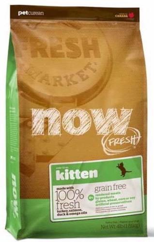 Now!Fresh! Grain Free Kitten Recipe 33/20 (Нау!Фреш! Грейн Фри Киттен Ресайп 33/20) - Корм для котят всех пород (БЕЗЗЕРНОВОЙ, индейка, утка и овощи) 1,82 кг