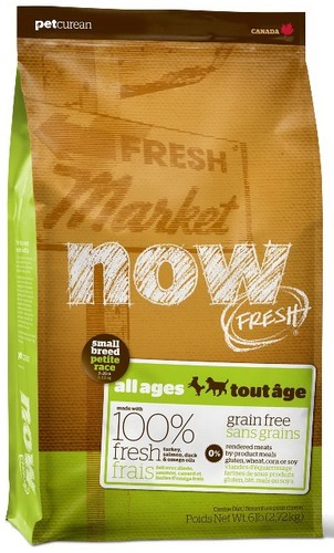 Now!Fresh! Grain Free Small Breed Dog Recipe 27/17 (Нау!Фреш! Грейн Фри Смол Брид Дог Ресайп 27/17) - Корм для собак мелких пород  (БЕЗЗЕРНОВОЙ, индейка, утка и овощи) 2,72 кг