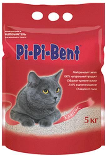 Pi-Pi-Bent Classic (Пи-Пи-Бент Классик) - Наполнитель бентонитовый комкующийся (для кошек) 5 кг