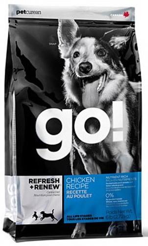 Go!Natural! Chicken Dog Recipe 24/14 (Гоу!Нэтурал! Чикен Дог Ресайп 24/14) - Корм для собак всех пород и возрастов (с курицей, фруктами и овощами) 5,45 кг