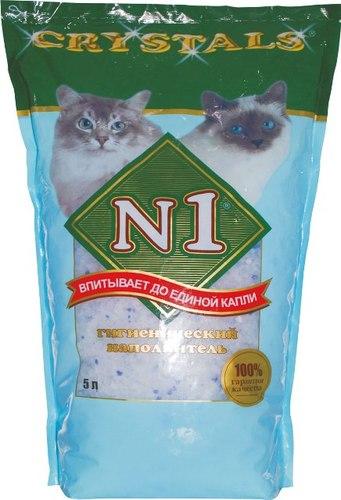 №1 Crystals (№1 Кристалс) - Наполнитель силикагелевый (для кошек) 5 л