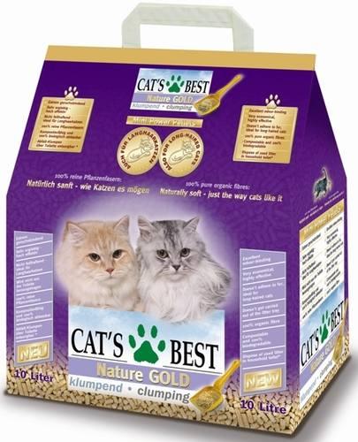 Cat's Best Nature Gold (Кэтс Бест Нейчур Голд) - Наполнитель древесный комкующийся (для длинношерстных кошек) 5 л