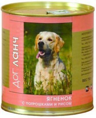 Dog Lunch (Дог Ланч) - Консервы для собак Ягненок-потрошки-рис 750 гр