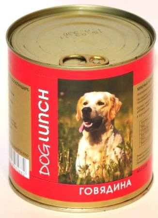 Dog Lunch (Дог Ланч) - Консервы для собак Говядина 750 гр