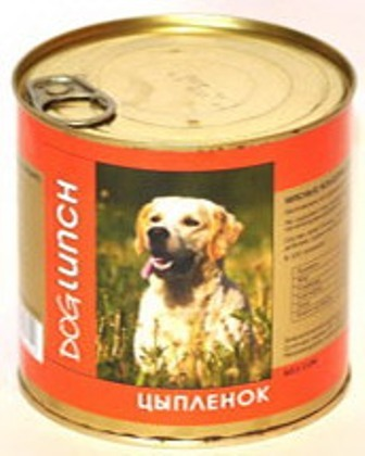 Dog Lunch (Дог Ланч) - Консервы для собак Цыпленок 750 гр