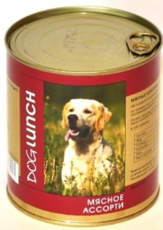 Dog Lunch (Дог Ланч) - Консервы для собак Мясное ассорти 750 гр