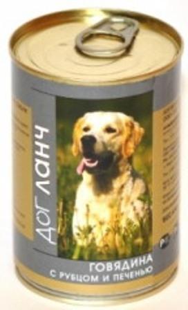 Dog Lunch (Дог Ланч) - Консервы для собак Говядина-рубец-печень 410 гр