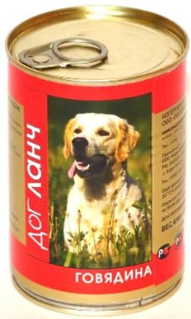 Dog Lunch (Дог Ланч) - Консервы для собак Говядина 410 гр