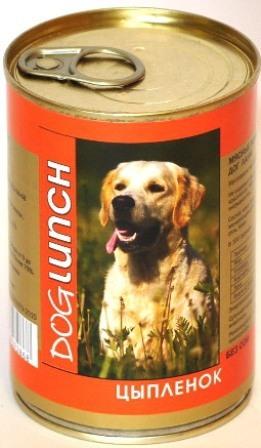 Dog Lunch (Дог Ланч) - Консервы для собак Цыпленок 410 гр