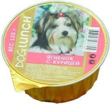 Dog Lunch (Дог Ланч) - Консервы крем-суфле для собак Ягненок-курица 125 гр