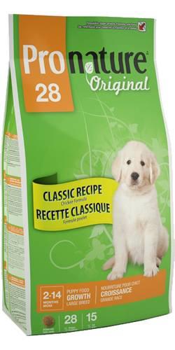 Pronature Puppy Large Breed Chicken 28 (Пронатюр Паппи Лардж Брид Чикен 28) - Корм для щенков крупных пород (с курицей) 20 кг