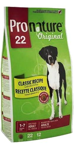 Pronature Dog Adult All Breeds Lamb&Rice Bigger Bites 22 (Пронатюр Дог Эдалт Ол Бридз Лэмб энд Райс Биггер Битс 22) - Корм для взрослых собак всех пород (ягненок с рисом, крупные гранулы) 12 кг