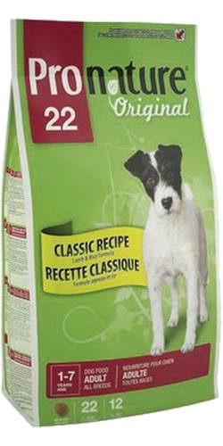 Pronature Dog Adult All Breeds Lamb&Rice 22 (Пронатюр Дог Эдалт Ол Бридз Лэмб энд Райс 22) - Корм для собак всех пород (ягненок с рисом) 6 кг