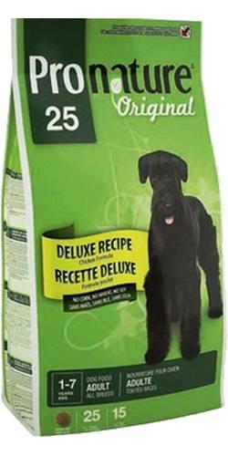 Pronature Dog Adult All Breeds Chicken 25 (Пронатюр Дог Эдалт Ол Бридз Чикен 25) - Корм для взрослых собак всех пород (с курицей, без сои, пшеницы и кукурузы) 15 кг
