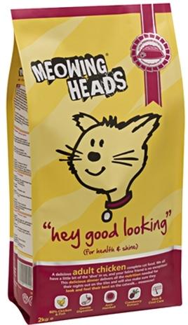 Meowing Heads Hey Good Looking (Мяуинг Хэдз Хэй Гуд Лукинг) - Корм для взрослых кошек всех пород (с курицей) 4 кг