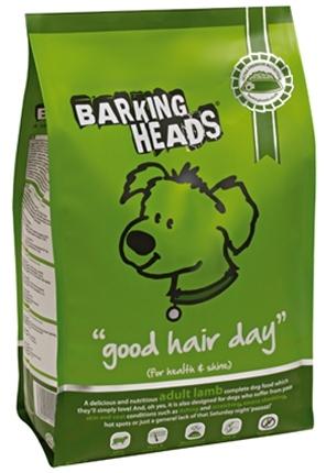 Barking Heads Bad Hair Day (Баркинг Хэдз Бэд Хэар Дэй) - Корм гиппоаллергенный для собак всех пород (ягненок с рисом) 18 кг