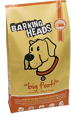 Barking Heads Big Foot Tender Loving Care (Баркинг Хэдз Биг Фут Тендер Ловинг Кеар) - Корм для взрослых собак крупных пород с чувствительным пищеварением (с курицей и рисом) 2 кг