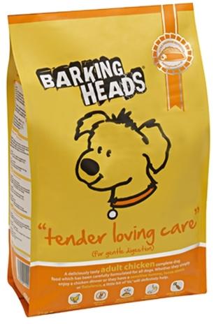 Barking Heads Tender Loving Care (Баркинг Хэдз Тендер Ловинг Кеар) - Корм для взрослых собак всех пород с чувствительным пищеварением (с курицей и рисом) 12 кг