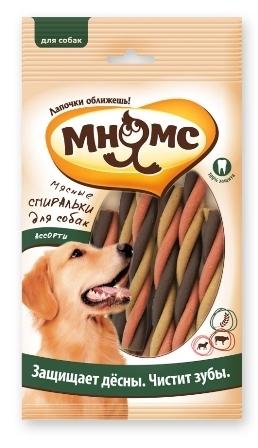 Мнямс - Мясные спиральки для собак ассорти, 6 шт.*20 гр