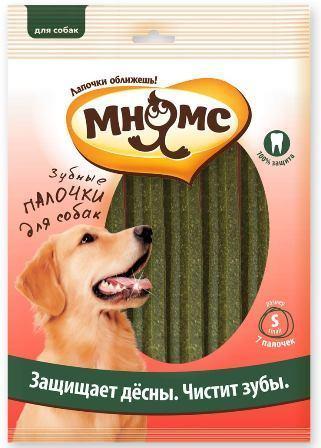 Мнямс - Зубные палочки для собак размер S 7 шт.*24 гр, 12 см