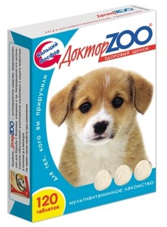 Доктор ZOO - Мультивитаминное лакомство для щенков Здоровый щенок 120 таб.