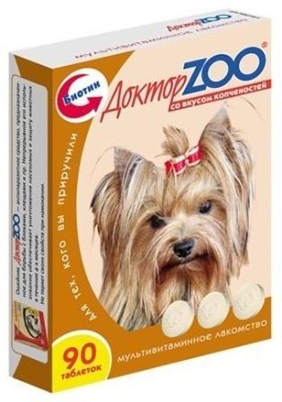 Доктор ZOO - Мультивитаминное лакомство для собак со вкусом копченостей 90 таб.