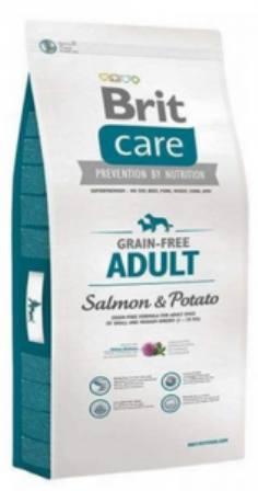 Brit Care Salmon (Брит Кеар Салмон) - Корм для собак всех пород с лососем 1 кг