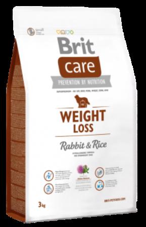 Brit Care Weight Loss (Брит Кеар Вейт Лосс) - Корм для собак, склонных к полноте (кролик с рисом) 3 кг